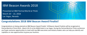 PowerM Selected as a Finalist for the IBM Beacon Award 2018