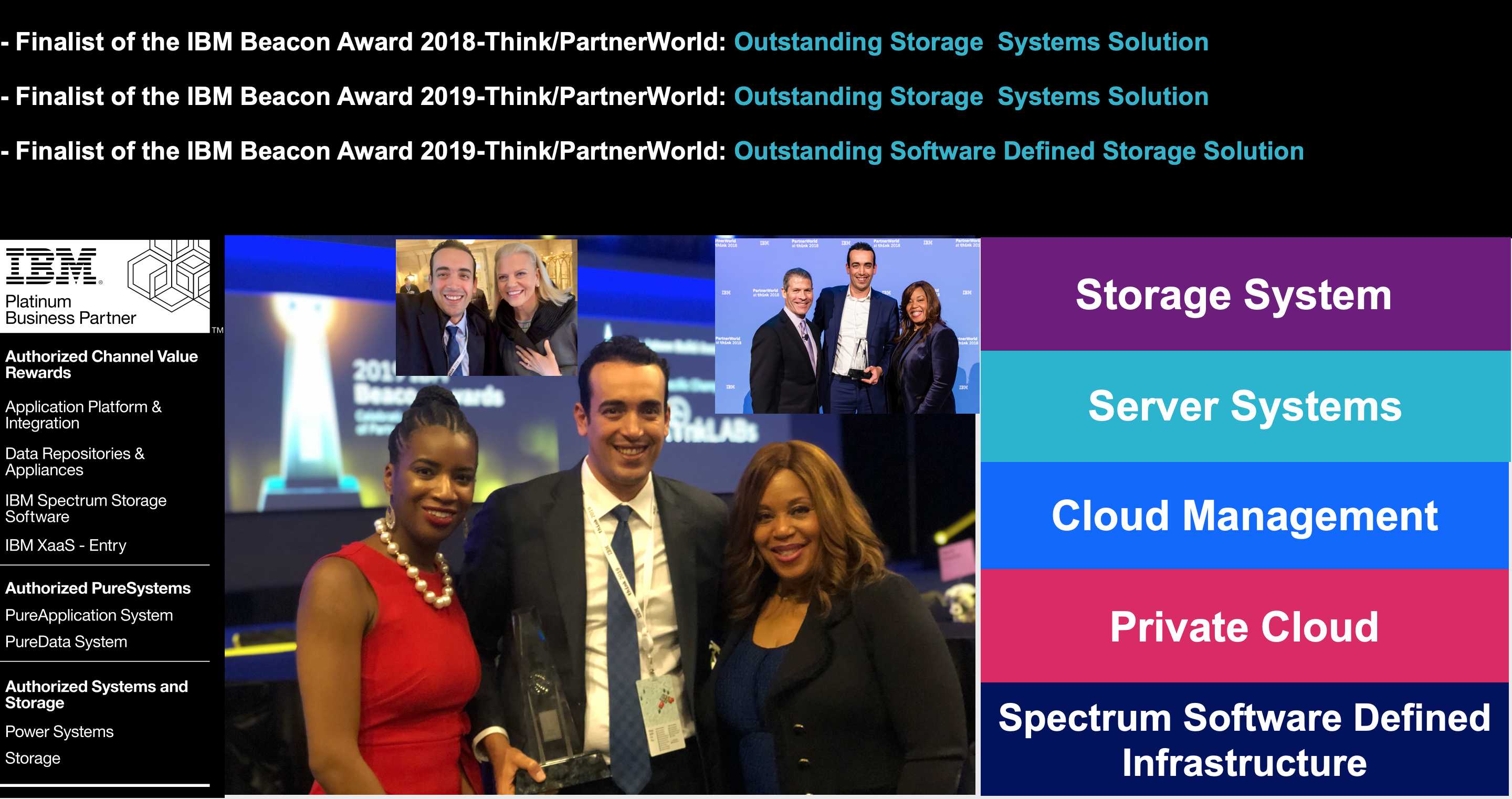 IBM Beacon Awards achievement